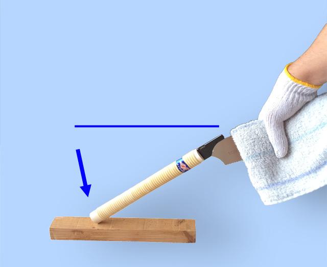 ゼットソー 刃を固定する