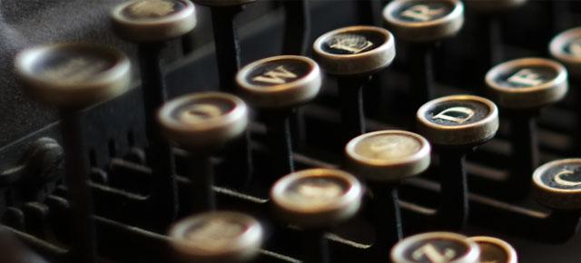 言葉を書くツール、タイプライター