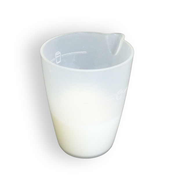 ミルクを少なめにコーヒーの味