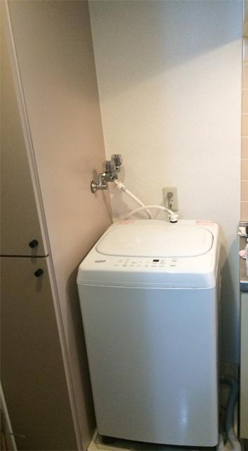 洗濯機周り_ラック取り付け前