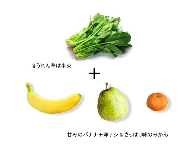 レシピ_ほうれん草と洋ナシ