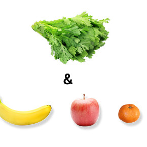 グリーンスムージー ー 春菊&リンゴのレシピ