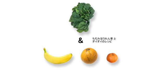 レシピ_ちぢじほうれん草とダイダイのスムージー