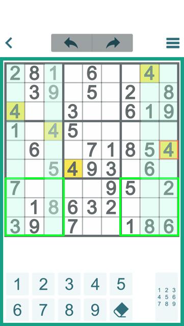 Basic technique of sudoku game